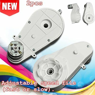 2pcs 12V 30000 RPM High Speed Electric Motor Gear Box Control For Kids Car SS