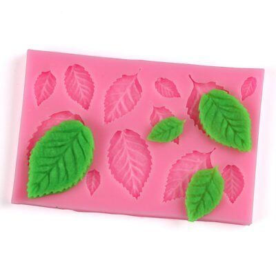 Tree Leaf Shape Fondant Cake Silicone Mold DIY Kitchen Candy Biscuits Mold AE