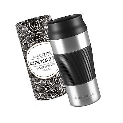 Coffee Travel Mug 360 ml - Double-Walled Vacuum Insulated Stainless Steel | B...