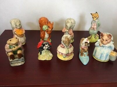 BEATRIX POTTER Beswick job lot of 9 figurines: ladybird, squirrels  Foxy