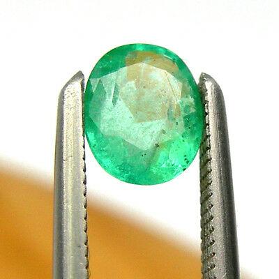 0.36 carat Oval 5x4mm Bright Green Natural Emerald Precious Gemstone Loose, EO3