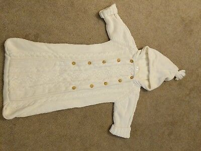 Gap Baby 6-12 month winter cable knit bunting, fleece lined