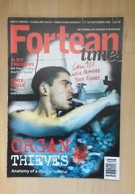 Fortean Times Ft 138 Sept 2000 Alien Engineers, Organ Thieves