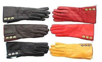 Coach 82825 Women's 3 Triple Turnlock Leather Cashmere Lined Classic Wrist Glove