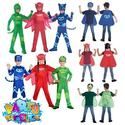 OFFICIAL UK PJ Masks Boys Girls Superhero Costume Kids Fancy Dress Child Outfit
