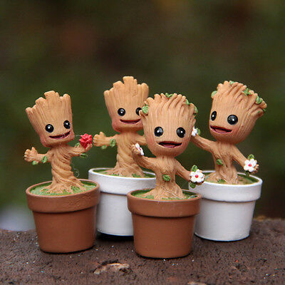 Funko POP Marvel Groot Dancing Potted Trees Bobble Head Landscape Kids Toy