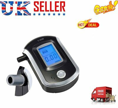Breath Blood Alcohol BAC Tester Blow-In Breathalyzer Digital Device UK STOCK