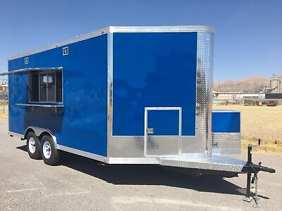 16' x 8.5' CONCESSION FOOD TRAILER RESTAURANT CATERING BBQ