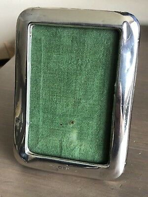 Antique English  Silver Chester Hallmarked Small Picture Frame