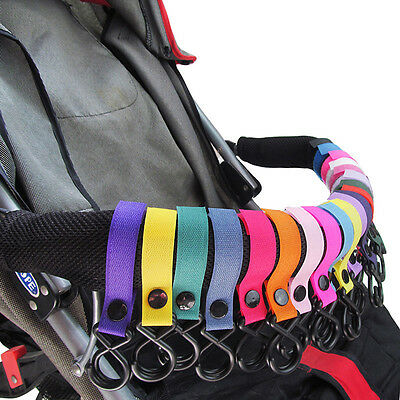 5pcs Baby Stroller Pram Pushchair Shopping Bag Handbag Hook Clips Carrier GE