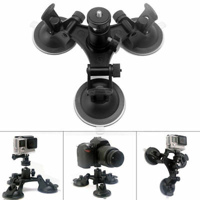 Triple Suction Cup Mount Low Angle Sucker Holder for Gopro Hero 2 3 3+ 4 5 6 Cam
