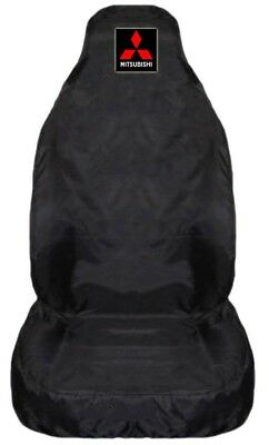 For Mitsubishi L200 Heavy Duty Black Waterproof Car Seat Cover -1 x Front
