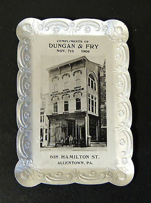 Antique vtg 1904 DUNGAN & FRY Furniture Store TIP TRAY Allentown PA Dresser Coin