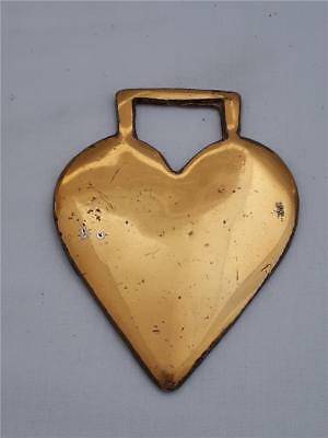Antique Horse Brass  Heart shape signed England