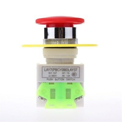 Red Mushroom Emergency Stop Push Button Switch 1NO / 1NC 22mm AC 660V 10A