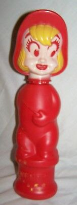 Vintage Red Wendy Cartoon Character Soaky- Colgate Palmolive-1960s