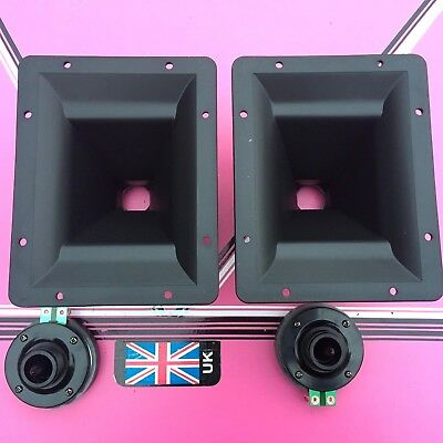 (pair) dynamic horn-tweeter 8x6 actule flare size 192x 152mm  60watts max disco