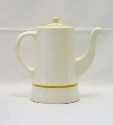Vintage STANGL POTTERY 5129 Coffee Maker, 8 Cup Pot, White w/ Gold Trim