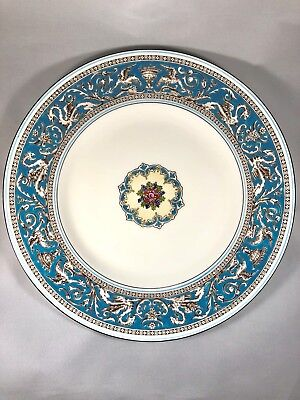 Wedgwood Florentine Dinner Plates 4 Pairs (8)Turquoise Dragon Griffin W2714 ❤️