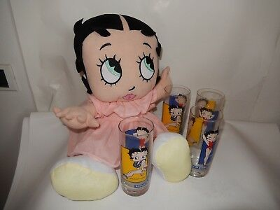 LOTTO BICCHIERE BETTY BOOP ACQUA LILIA KING FEATURES 2003 peluche  baby boop