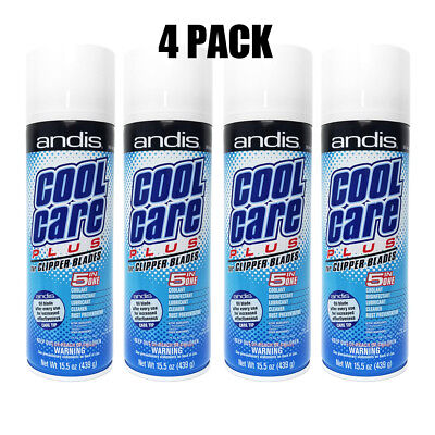Andis Cool Care Plus Spray 5 in 1 Clipper Blade cleaner 4 pack