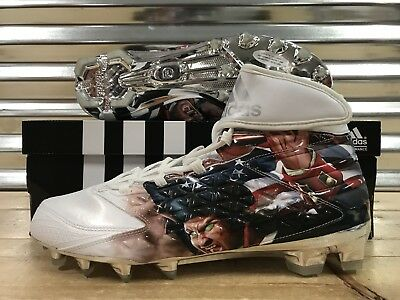hot sales 8303f ee539 Adidas Freak X Carbon High Uncaged Patriot Football Cleats White SZ (  AQ7826 )