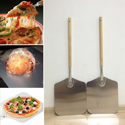 """Aluminum Wooden Kitchen Pizza Peel Bakers Paddle Tray Bakers Oven Blade 26""""/66cm"""
