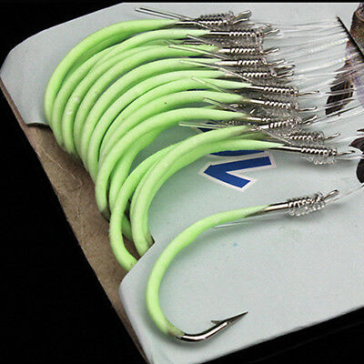 Carbon Steel Fluorescent Fishing Hook With Barbed Line Fishing Accessories
