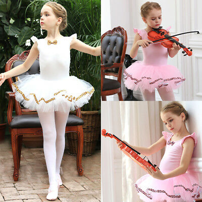 Kid Girl Ballet Gymnastics Tutu Dress Leotard Skirt Ballerina Dancewear Costume