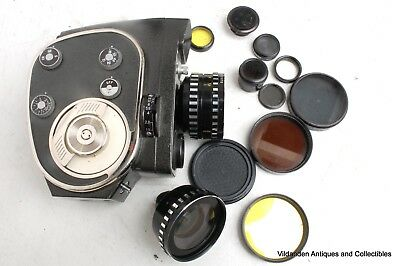 ++ Vintage U.S.S.R. 8mm Movie Camera Quartz 2M ++ With 2 lenses filters and case