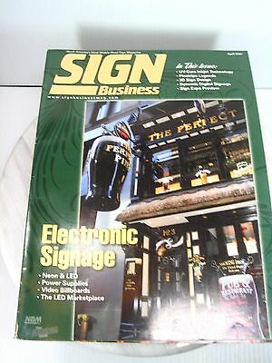 SIGN BUSINESS Magazine Lot of 10 2007 Editions Sign Business Graphics Reference
