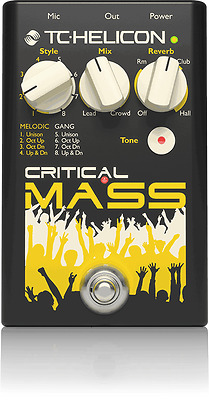New TC-Helicon Critical Mass Large Group Vocal Effect pedal!