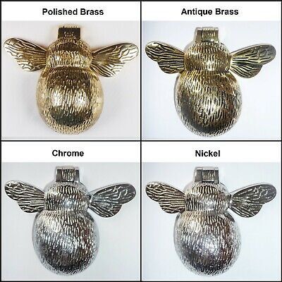Bumble Bee Door Knocker, Solid Brass Material, Various Finishes