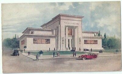 Winona Mn New Home Winona Savings Bank Antique Postcard Minnesota Divided Back