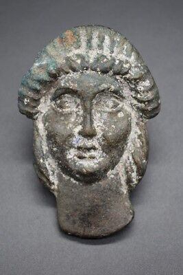 Medieval Byzantine bronze face mount 12th century AD
