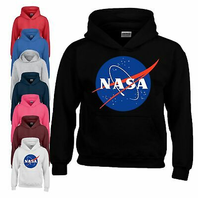 NASA Hoodie Centre Space Astronaut Geek Star Big Bang Youth Boy Girl Kids Hoody