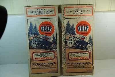 Two Vintage Gulf Refining Co. Maps