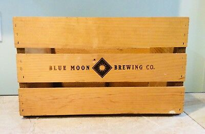Blue Moon Brewing Company Wood Crate