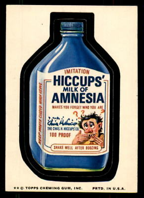1974 Wacky Packages Series 10 Hiccups' Milk of Amnesia EX-MT (ref 33993)