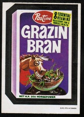 1973 Wacky Packages OPC 4th Series #16 Grazin' Bran RARE EX-MT (ref 33997)