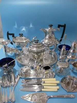 Beautiful Large Job Lot of Antique & Vintage Silver Plated Items Plus Cutlery