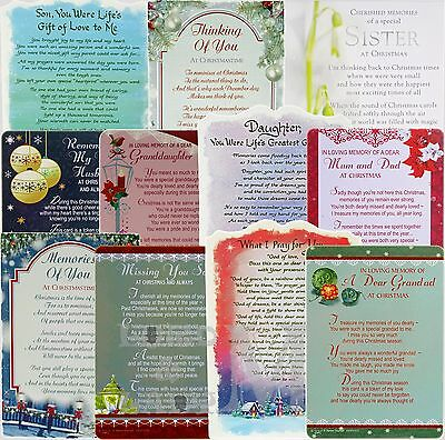 Memorial / In Loving Memory - Graveside Christmas Cards - Various Designs