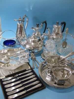 Very Elegant Large Job Lot of Antique & Vintage Silver Plated Items Plus Cutlery