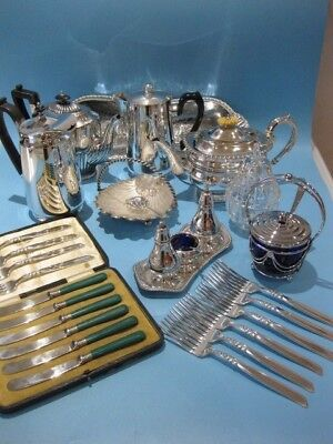 Extremely Nice Large Job Lot of Antique & Vintage Silver Plated Items & Cutlery