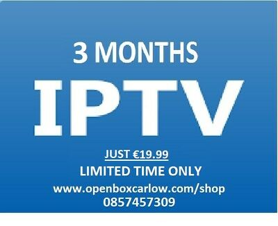Sale For 3 Months Iptv Gift For Smart Tv, Andriod Boxes, Enigma 2, Mag And More