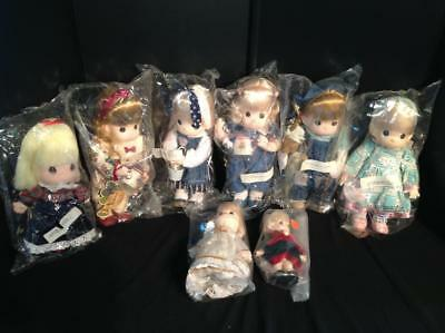 """8 Precious Moments Dolls - 7.5  to 11.5"""" New in Bags (1994) Lot 5/11"""