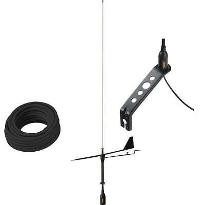 Glomex Black Swan VHF Antenna with Wind Indicator #SGV80BWIBK