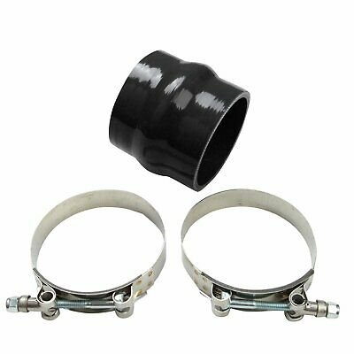 "3"" 76mm Hump Straight Silicone Hose Intercooler Coupler Tube Pipe Black+T Clamp"