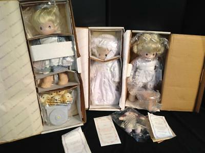3 Precious Moments Dolls New in Bags W/COA Story of Jesus. Lot 7/11