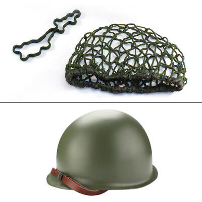 M1 CS With Netting Cover Helmet WWII Steel WW2 Army Equipment Military Practical